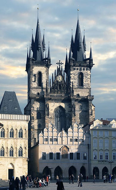 The church of Our Lady in front of Týn at Old Town Square, Prague, Czechia