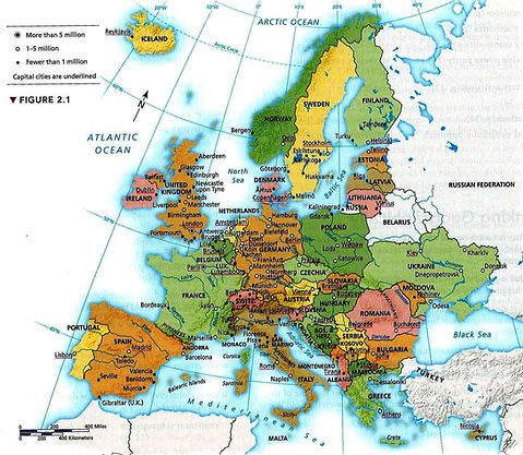 Major cities in Europe - Czechia