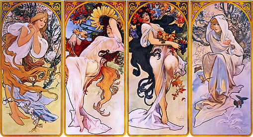 Alphonse Mucha - 4 seasons / Art of Czechia