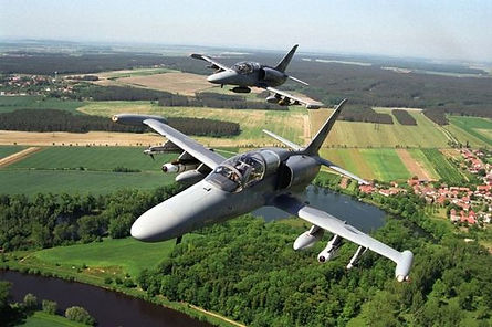 Aero L-159 ALCA (Advanced Light Combat Aircraft) is a multi-role combat aircraft built in Czechia. It is in service with the Czech Air Force. It is derived from the Aero L-59 Super Albatros.