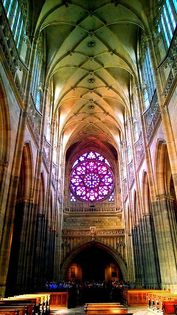 Rear part of St.Vitus cathedral, Prague, Czechia