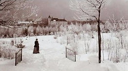 Unknown author - Winter scenery with a lady (1890s)