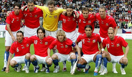 Football Team Czechia - 3rd place at European Championship 2004