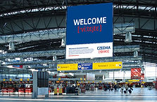 Czechia - Airport advertisement