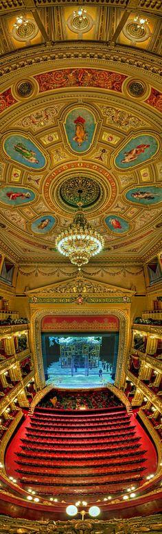 Interior of National Theater, Prague, Czechia
