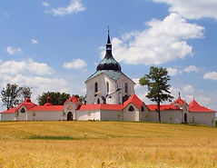 The church of St.John Nepomuk, Zelená Hora, Czechia
