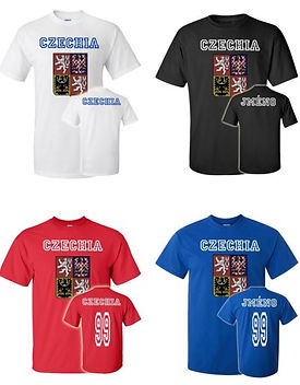 Czechia various T-shirts