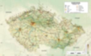 Czechia - Topographic map