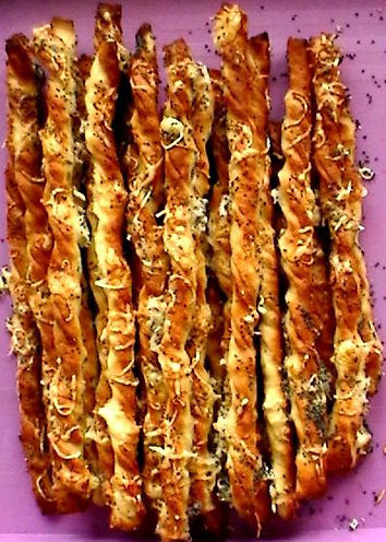 Salty sticks - traditional delicacy to wine or beer in Czechia