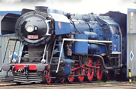 "Locomotive Škoda 477.060 ""Papoušek"" (The Parrot) Czechia"