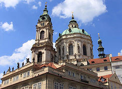 St.Nicolas church at Lesser Town in Prague, Czechia