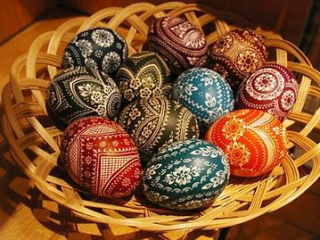 """Kraslice"" - painted eggs, one of the Easter traditions in Czechia"