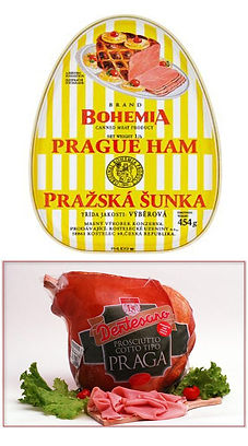 Prague Ham - a kind of cooked ham, invented in 18th century by František Chmel, Czechia