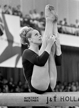 Věra Čáslavská, the multiple Olympic medal winner,who became one of the most famous personalities in Czech sports and also played an important role in the international Olympic movement