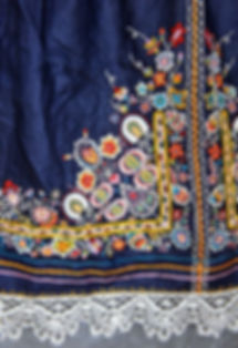 Czech folk embroidered apron - Czechia