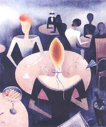 Jan Zrzavý - Café (1923) art of Czechia