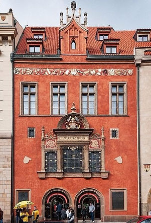 Western House of Old Town Hall (1360), Prague, Czechia