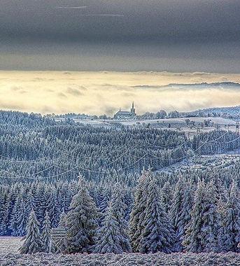 Výsluní in Krušné mountains (North Bohemia), Czechia