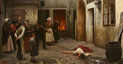 Jakub Schikaneder - Murder in the house (art of Czechia)