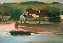 Rudolf Kremlička - Ferry in Troja (art of Czechia)