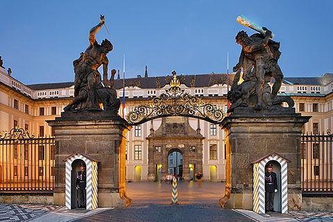 Prague castle entrance and 1st courtyard, Prague, Czechia