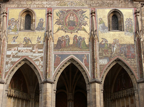 Golden Gate of St.Vitus cathedral, Prague, Czechia