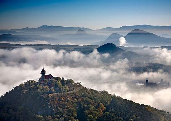 Hněvín hill at Most (North Bohemia), Czechia