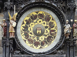 Josef Mánes - Calendar lunettes of Astronomical clock - art of Czechia