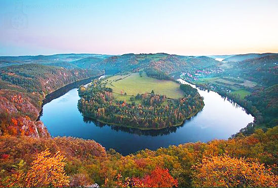 Svatojánské proudy (St.John Streams) of Vlatava river (Central Bohemia), Czechia