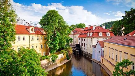 Kampa island with water mill Čertovka, Prague, Czechia