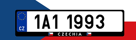 Czechia - car license plate