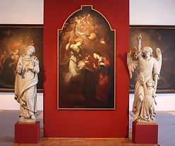 Karel Škréta - Annuciation of Holy Virgin Mary (around 1660) at an exhibition in 2010 in Prague - art of Czechia