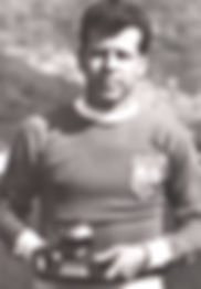 Josef Masopust in the jersey of FIFA team with Golden ball, 1963