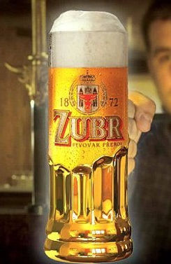 Zubr beer from Přerov (North Moravia) - Czechia