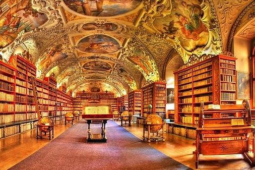 Strahov Monastery Library in Prague, Czechia