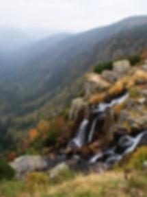 Pančava waterfall, Krkonoše National Park, Czechia