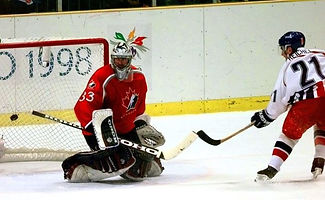 Robert Reichel's winning goal in shoot-out of semifinals Czechia v.Canada 2-1at Olympic Games 1998