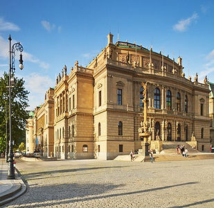 Rudolfinum concert hall in Prague, Czechia