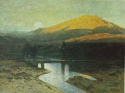 Julius Mařák - Blaník hill - art of Czechia