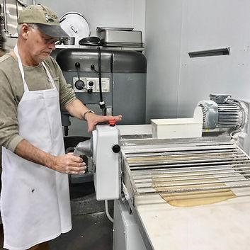 Maurice Chaplais Bakery Consultant makes croissants