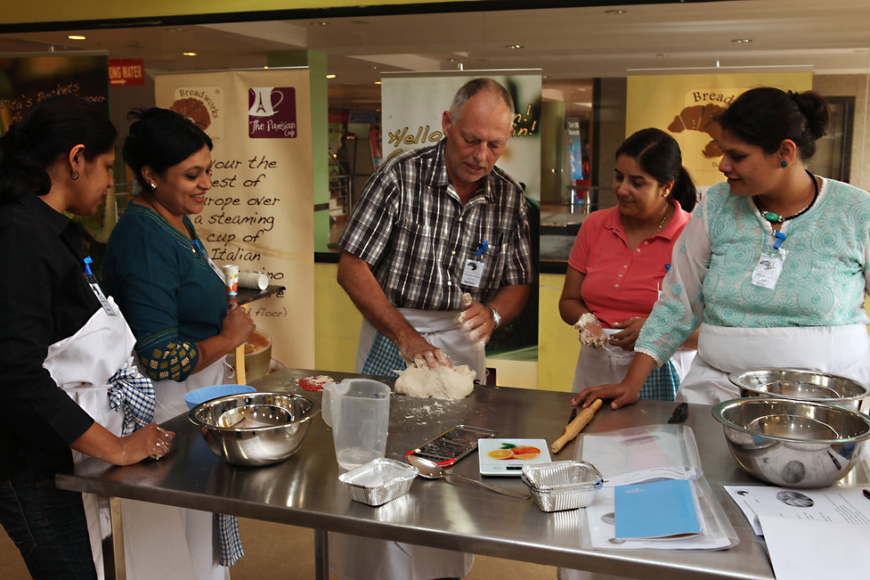 Maurice Chaplais Artisan Bakery Consultant at bread workshop India