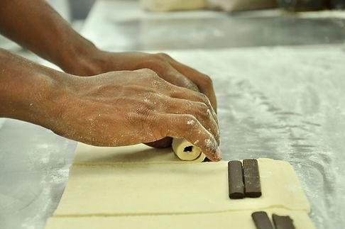 Making Pain Au Chocolat