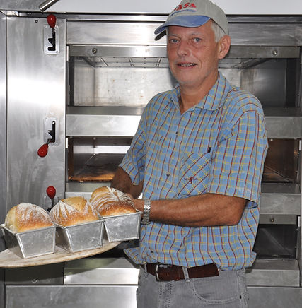 Maurice Chaplais Help for Bakery Set Up, unloads oven in Hyderbad, India