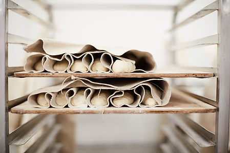 Baguettes rising in a Couche