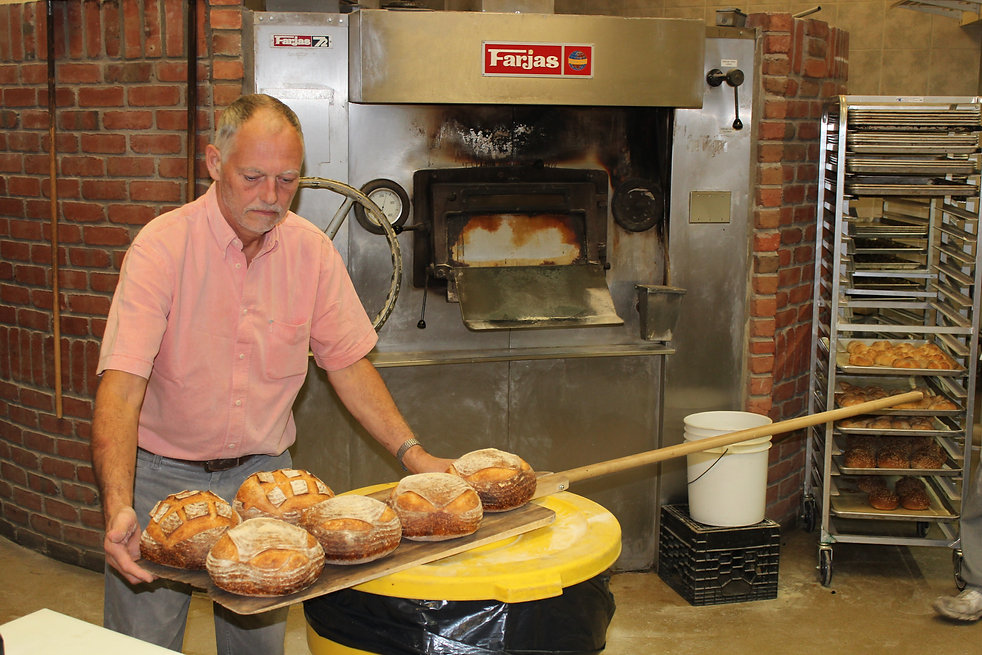 Maurice Chaplais Bakery and Confectionary Consultant with his sour dough bread