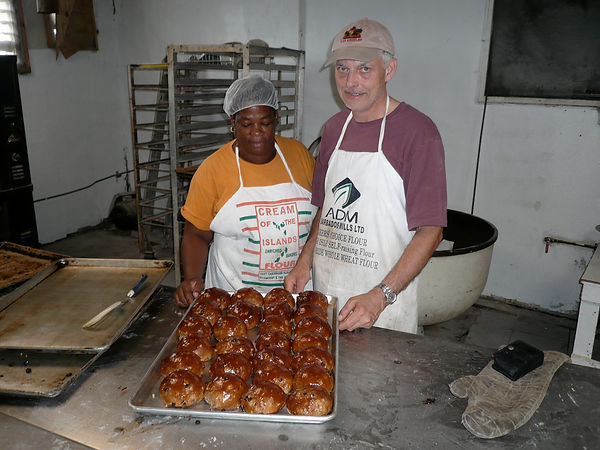 Maurice Chaplais Bakery Consultant in a Sukies Bakery, Dominica
