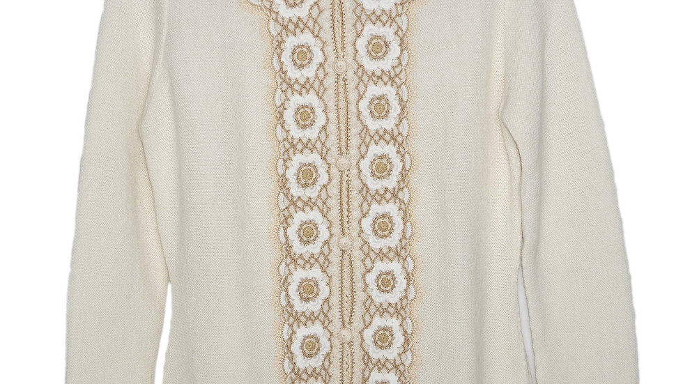 Ivory Embroidery Sweater