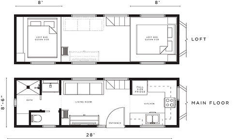 Willow 28' Front Kitchen