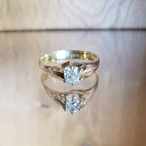 Stunning Victorian 18ct gold Old cut solitaire 0.66ct diamond ring