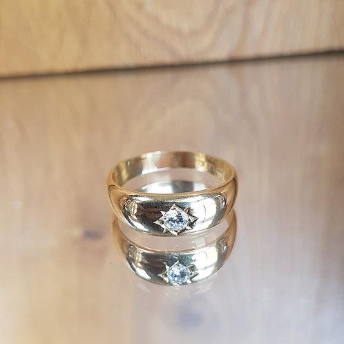 Stunning 18ct gold Victorian C1887 Gypsy Star set 0.25ct diamond ring